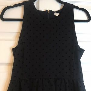 J. Crew velvet polka dot dress